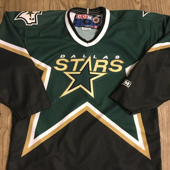 size 40 ec611 7369b Authentic Dallas stars hockey Jersey (kids) Large